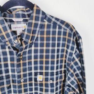 Carhartt long sleeve plaid button up men's shirt
